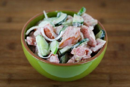 Помидоры со сметаной салат