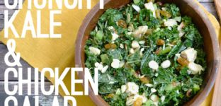 Crunchy Kale and Chicken Salad