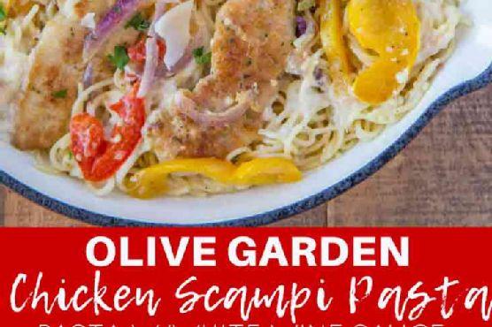 olive garden chicken scampi pasta copycat - Olive Garden Chicken Scampi