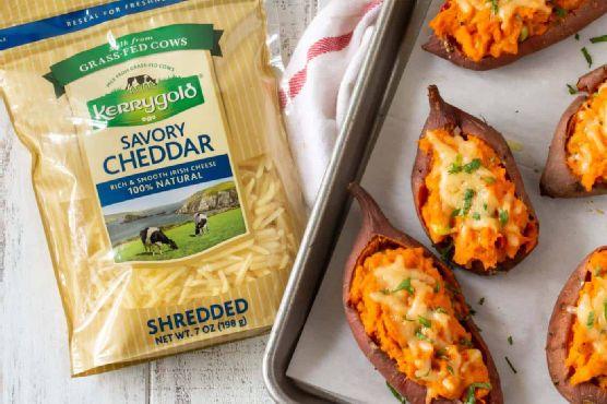 Cheesy Chipotle Twice Baked Sweet Potatoes