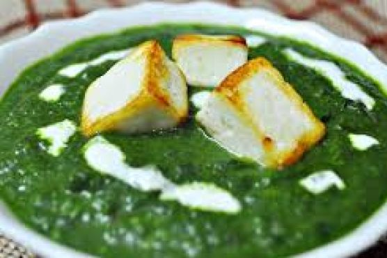 Palak Paneer, a Spinach & Cheese Curry