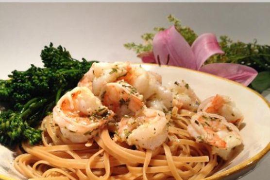 Lemon, White Wine & Herb Shrimp