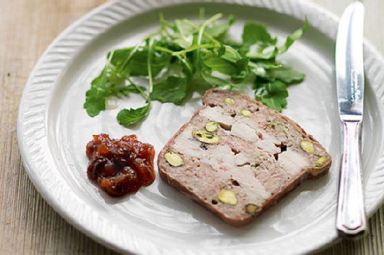 Chicken pork and pistachio terrine recipe for Chicken and pork terrine with pistachio