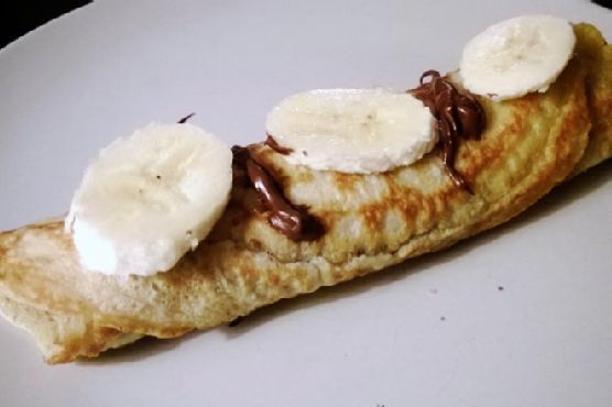 Nutella Banana Pancakes German Style