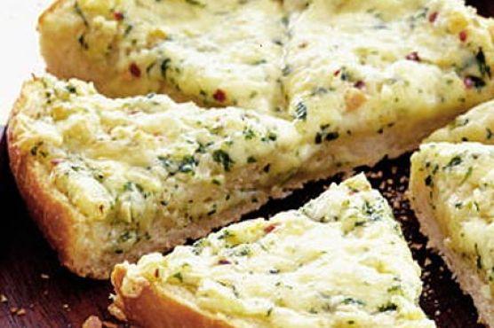 Cheesy garlic bread wedges