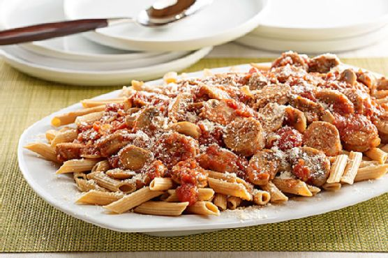 Spicy Sausage Penne Pasta