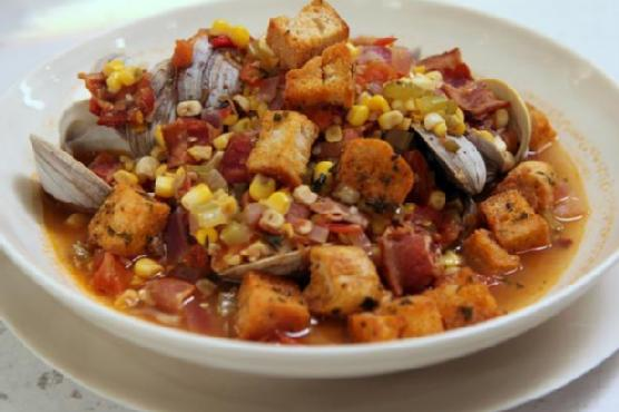 Spicy Clam and Corn Chowder