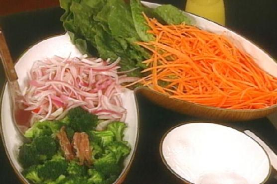 Make-Your-Own Salad with Lemon Garlic Dressing