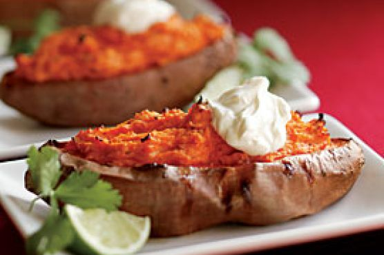 Twice-baked Sweet Potatoes With Chipotle Chile