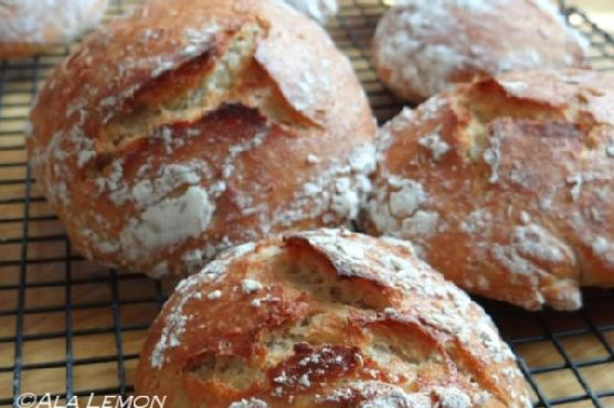 2-hour no knead bread
