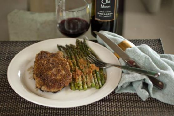 Almond Crusted Salmon Fillets with Roasted Broccolini