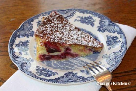 Almond Plum Cake with Creme Fraiche