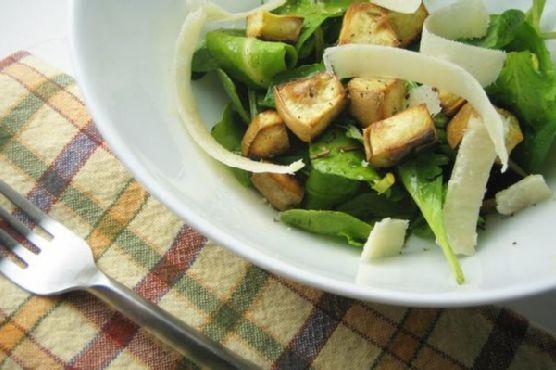 Arugula Salad With Sweet Potato Croutons