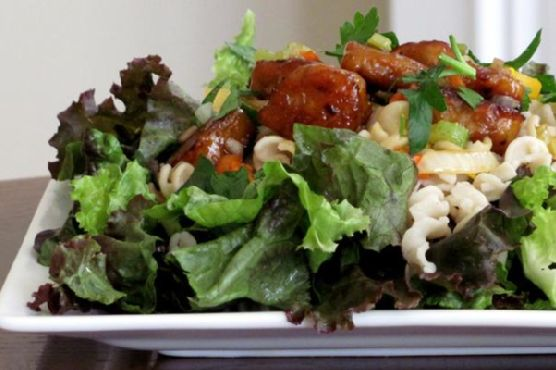 Asian Tempeh Salad With Sesame Lime Dressing