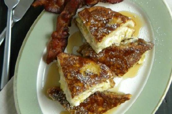 Banana & Cream Cheese Stuffed French Toast