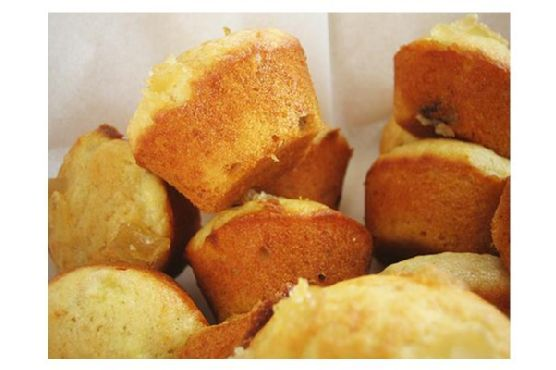 Banana Toffee-Chip Mini Muffins