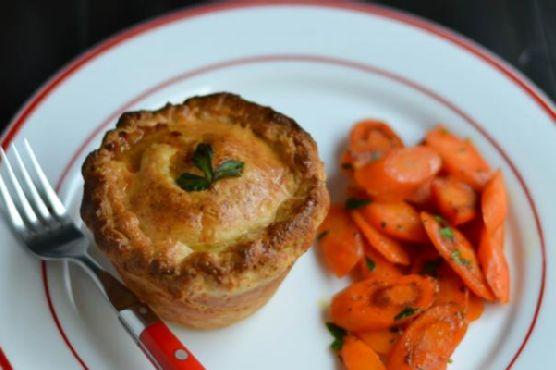 Beef Pot Pies with Irish Cheddar Crust