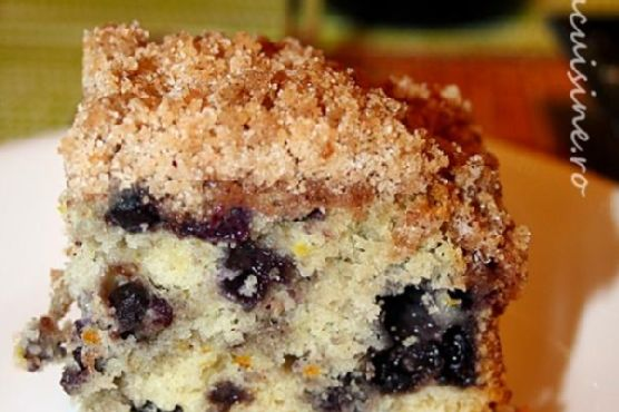 Blueberry Buckle / fluffy cake with blueberries