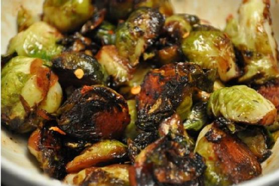 Brussels Sprouts In Honey Butter With Chili Flakes