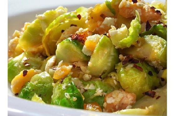 Brussels Sprouts With Salted Eggs
