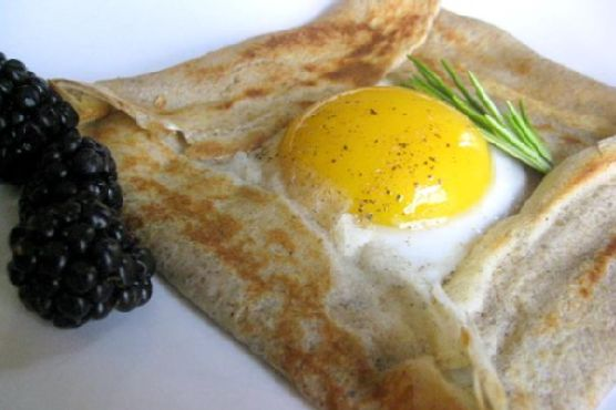 Buckwheat Galette With An Egg