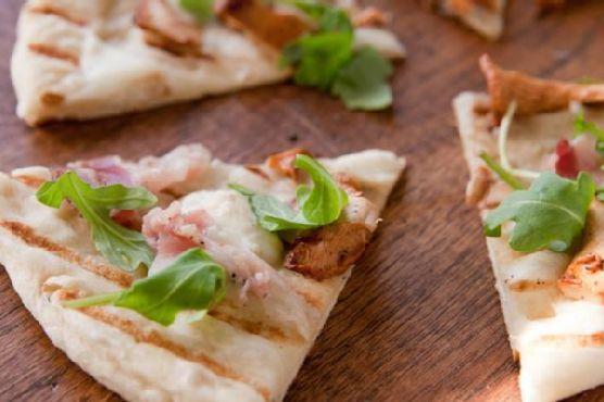 Chanterelle and Mangalitsa Speck Pizza
