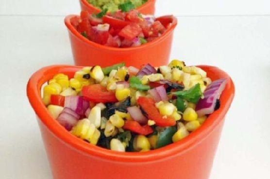 Charred Corn and Pepper Salsa