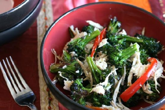 Chicken and Roasted Broccoli Salad With Goat Cheese