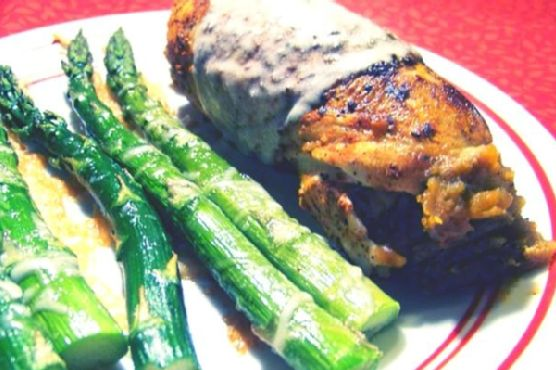Chicken/sweet Potato Roulade With Goat Cheese Sauce
