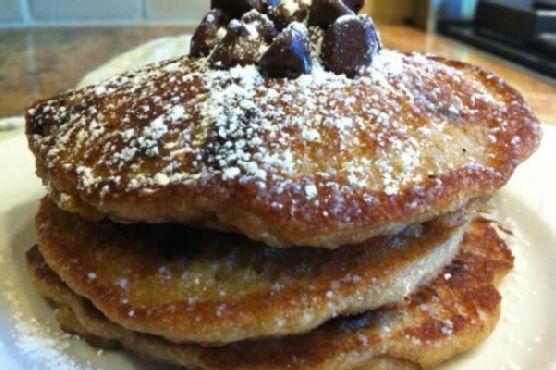 Chocolate Chip Pancakes-gluten free, nut free, vegan