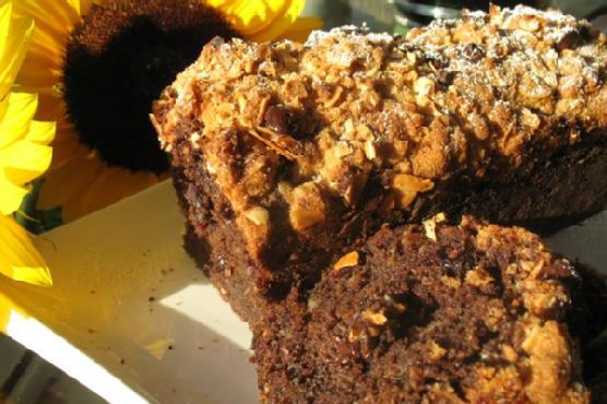 Chocolate Zucchini and Sweet Potato Bread With Almonds and Dried Cherries