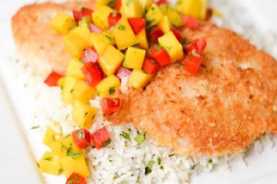 Coconut Crusted Rockfish