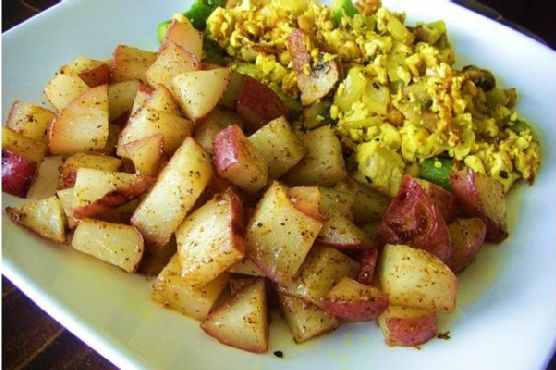 Country Breakfast: Tofu and Veggie Scramble With Home Fries