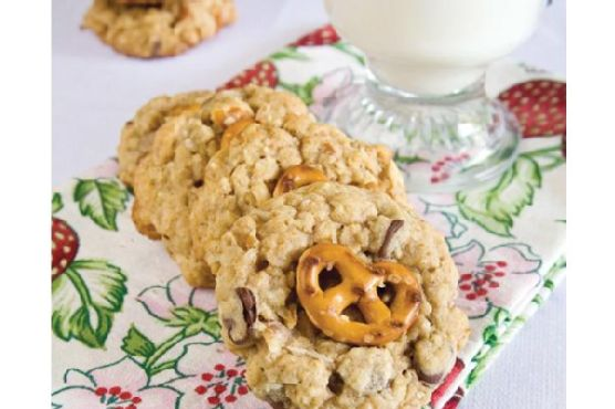 Cowboy Cookies With Pretzels and Raisinettes