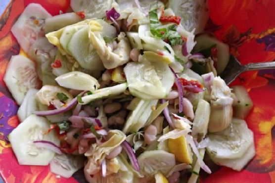 Cucumber and Cannellini Bean Side Salad