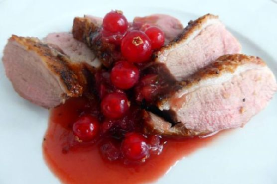 Duck Breast with Redcurrant and Port Sauce