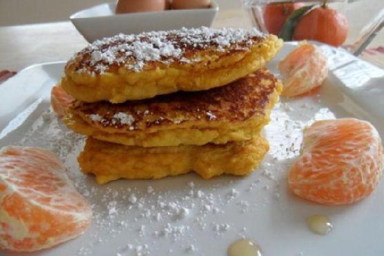 Fluffy Citrus Coconut Pancakes