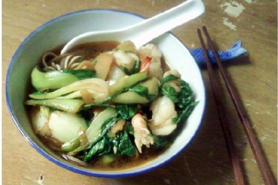 Fragrance Is In The Air: Asian Noodle Shrimp Soup