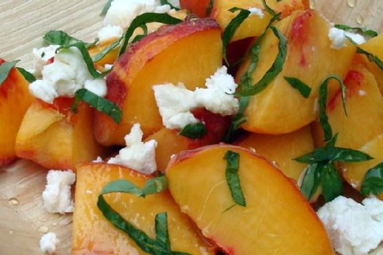 Fresh Peach With Goat Cheese Side Salad