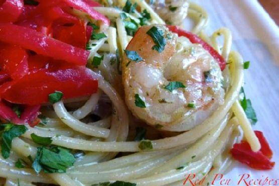 Fresh Pesto Shrimp Pasta