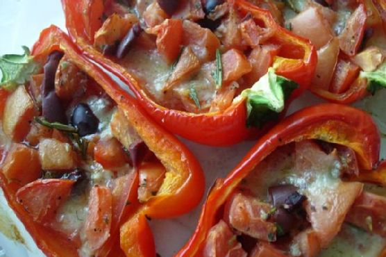 Garden Baked Red Peppers