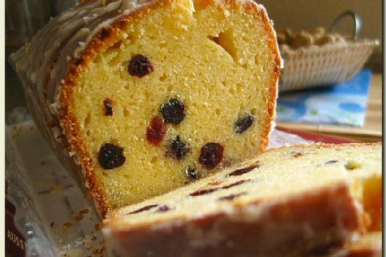 German Lemon Cake With Cranberry Aka Cranberry Zitronenkuchen