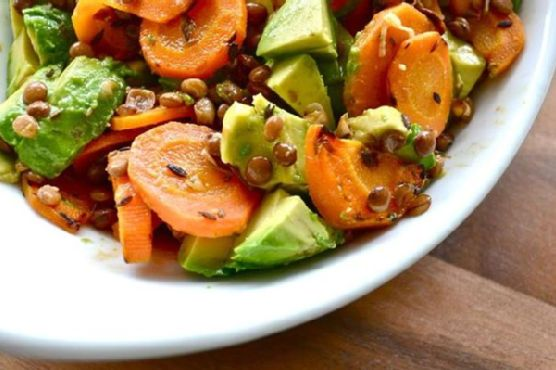 Ginger Lentils With Carrots and Fresh Herbs