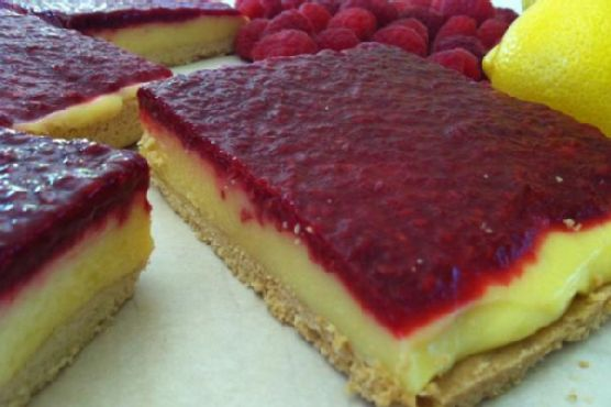 Gluten Free Dairy Free Lemon Raspberry Bars