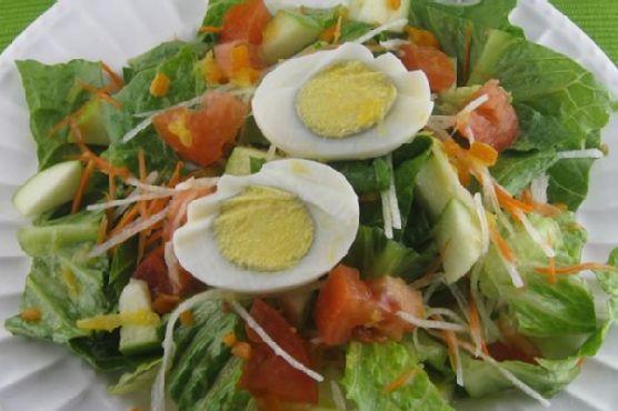 Green Salad With Fresh Orange Juice Dressing