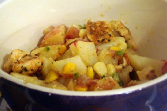Grilled Chicken & Corn Red Potato Salad