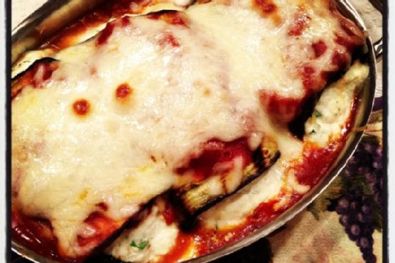 Grilled Eggplant Rollintini :: Twist on a Classic