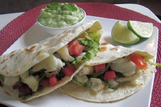 Grilled Fish Tacos W/ Spicy Tequila-Lime Guacamole