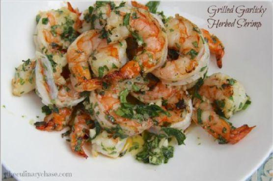 Grilled Garlicky-Herbed Shrimp