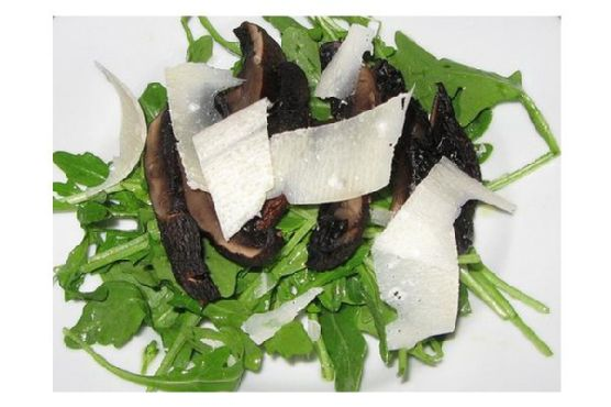 Grilled Portobello Salad With Shaved Parmigiano-Reggiano